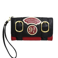 Harry Potter Hogwarts Express Gold Double Buckle Flap Wallet