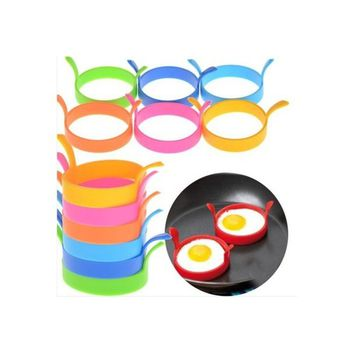 4PCs/bag Round Silicone Fried Egg Tool High temperature Safety Environmental Protection Cake model Omelet ring   103ZDCP1920