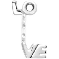 Love Stainless Steel Acrylic Push In Eyebrow Ring | Body Candy Body Jewelry