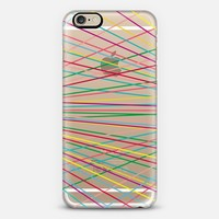 Rainbow Mini Stripes Bold (transparent) iPhone 6 case by Lisa Argyropoulos | Casetify