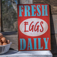 rustic chicken coop signs fresh eggs daily chicken coop chicken art chicken decor chicken signs farm decor eggs for sale sign