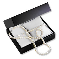 Cultured Pearl Set Necklace/Bracelet Sterling Silver Earrings
