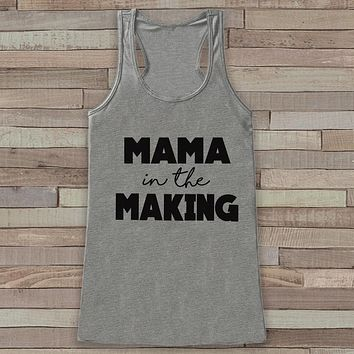 Pregnancy Announcement Tank - Simple Pregnancy Shirt - Mama in the Making Tank - Grey Tank Top - Pregnancy Announcement Shirt - New Mom