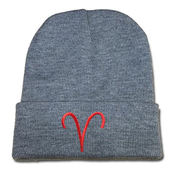 JIAQ Homestuck Troll Sign Beanie Embroideryies Knitted Hats Caps