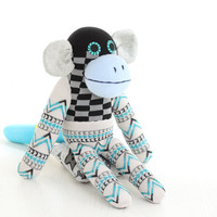 Handmade kawaii plush Monkey Stuffed Animal Doll Baby Toys 3#