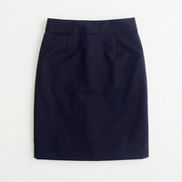 Factory pencil skirt in pinstripe wool