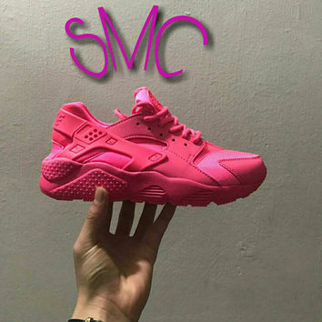 Nike Air Huarache Painted Nike Shoes  sneakers Runners Women's Shoes Customized Sprayed Sneakers