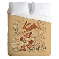 Pimlada Phuapradit brown hare Duvet Cover