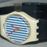 1987 Vintage Ladies Newport LW115 Swatch Swiss SWATCH Spring Summer Watch