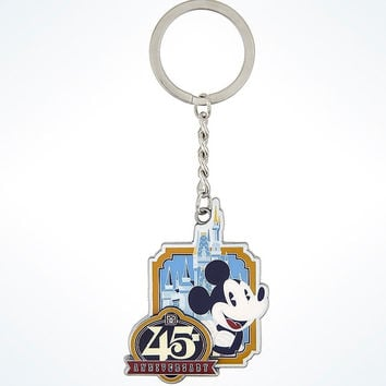 Disney Parks 45th Anniversary Magic Kingdom Mickey Keychain New with Tags