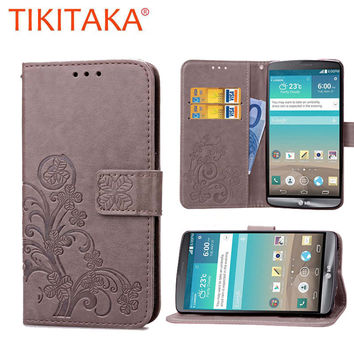 Luxury Leather Wallet Flip Phone Cases For LG G3 Cover Retro Vintage Multifunction Money Bags For LG Optimus G3 D855 D851 D850