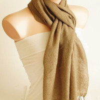 Unisex Scarf -Camel color - Long Scarf - Winter Scarf