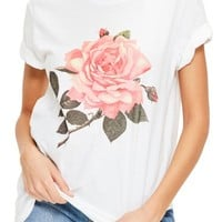 Missguided Floral Print Graphic Tee | Nordstrom
