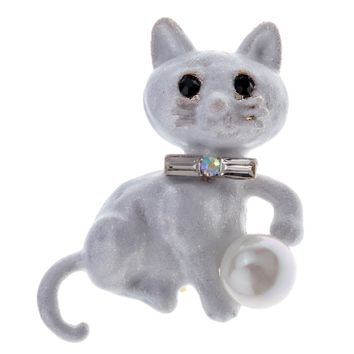 SHIPS FROM USA Yacq Cat Brooch Pin Halloween Party Fashion Jewelry Decor Birthday Gifts for Women Girls Her Girlfriend Wife WB04