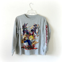 VINTAGE Yu-Gi-Oh! Sweater - Small / Grey