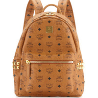 Stark Side Stud Small Backpack, Cognac - MCM
