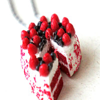 Red Velvet Cake Necklace