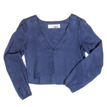 Little Harlow Top In Washed Silk