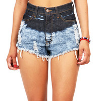 Acid Tint High Waist Shorts | Denim Shorts at Pink Ice