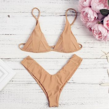 Triangle Cheeky Brazilian Bikini Set