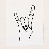 Cult Paper Rock On Art Print | Urban Outfitters