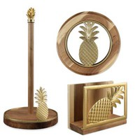 Thirstystone® Pineapple Acacia Wood Kitchen Decor