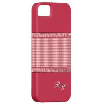 Red checkered with Monogram
