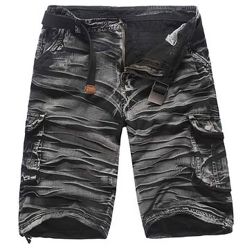Camouflage Camo Cargo Shorts Men 2017 New Mens Casual Shorts Male Loose Work Shorts Man Military Short Pants Plus Size 29-38