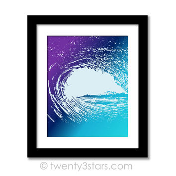Ocean Wave Wall Art - Choose Any Colors - twenty3stars