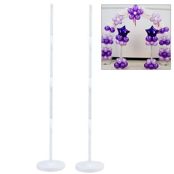 2pcs Balloon Column Stand Kits Arch Stand with Frame Base and Pole for Wedding Party Decoration