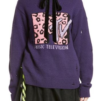MARC JACOBS x MTV Logo Sweater | Nordstrom