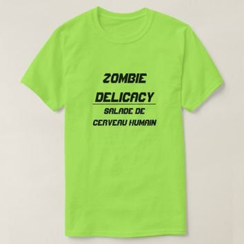 Zombie Delicacy Human Brain Salad T-Shirt