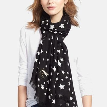 Women's kate spade new york printed star scarf