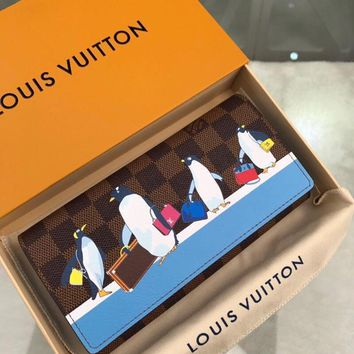 Kuyou Lv Louis Vuitton Gb19710 N64426 Penguin Print In The Wallet 19x10.5x2.5cm