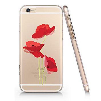 Vintage Secret Poppy Flower Slim Iphone 6 6S Case, Clear Iphone 6 6S Hard Cover Case For Apple Iphone 6/6S -Emerishop (NPT026.6sl)