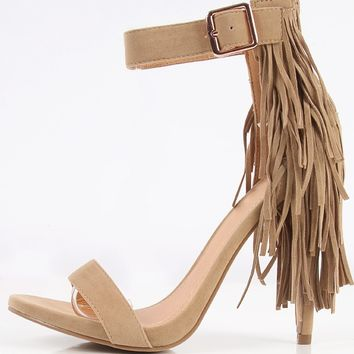 Shoe Republic LA Fountain Fringe Tail Heels