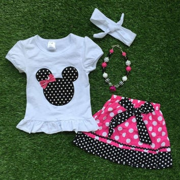 Minnie Mouse Skirt Set w/ Accessories