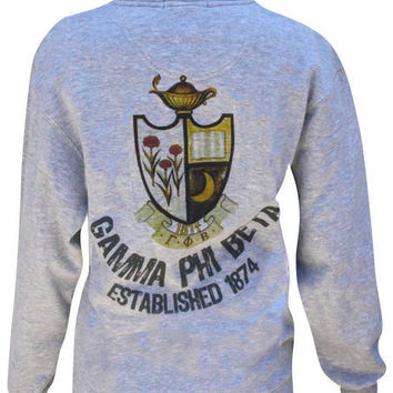 Adam Block Design » Gamma Phi Beta Crest Half-Zip