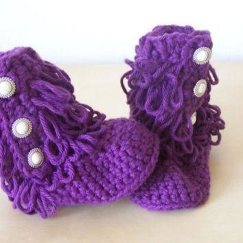 DCCK8X2 baby girl clothing, baby crochet boots, ugg style boots