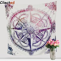 145X145CM Indian Mandala Tapestry Throw Hippie Tapestry Hanging Printed Polyester Decorative Wall Tapestries Drop Shipping