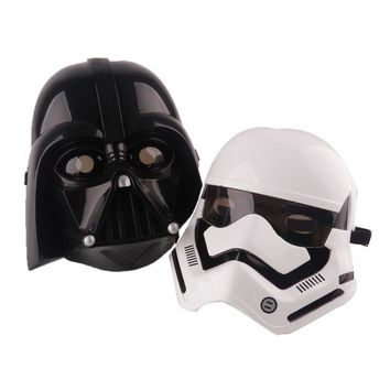 Star Wars Force Episode 1 2 3 4 5 Cosplay  mask led lighting lighten party halloween black blackhead full face mask horror scary masquerade masks plastic AT_72_6