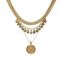 Noa Coin Charm Necklace - Gold | Luv Aj