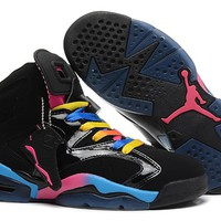 Air Jordan 6 Retro AJ6 VI Black Colorful Sport Sneaker US 5.5-13
