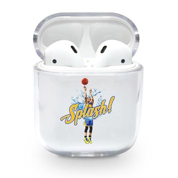 Splash Text Steph Curry Airpods Case
