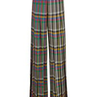 Marco de VincenzoMulti Check Pleated High Waisted Trousers