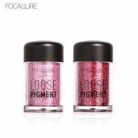 FOCALLURE Newest 12 Colors Glitter Eye Shadow Cosmetic Makeup Diamond Loose Makeup Eyes Pigment Powder