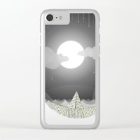 Dream Sea Clear iPhone Case by Dood_L