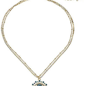 "Betsey Johnson ""Betsey's Delicates"" Eye Pendant Necklace, 16"" + 3.75"" Extender"