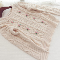 Pink cute knitted sweater