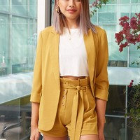 Blazer & Paperbag Shorts Set